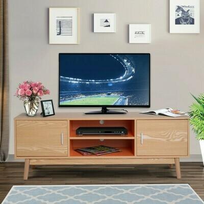 HOMCOM® Fernsehtisch Fernsehschrank Lowboard TV-Schrank Retro-Stil Holz