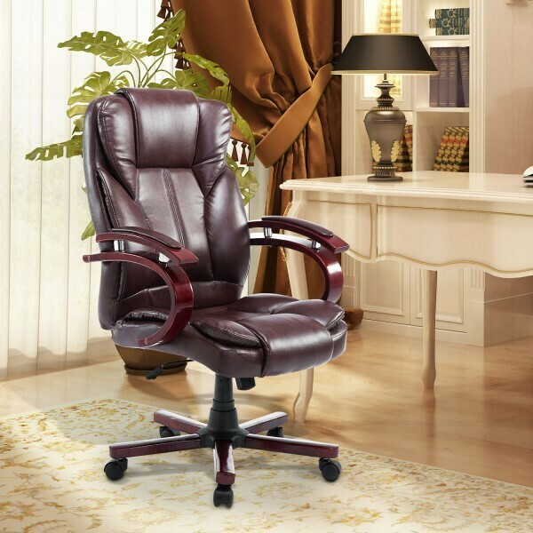 HOMCOM® Bürosessel Bürostuhl Chefsessel braun