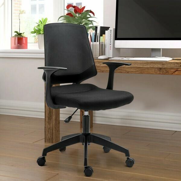 Vinsetto® Drehstuhl Bürostuhl Schreibtischstuhl rollbar höhenverstellbar ergonomisch gepolstert Schwarz