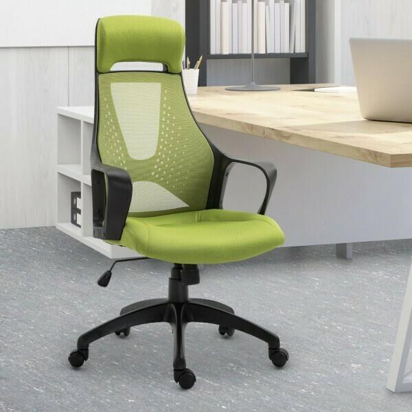 Vinsetto® Bürostuhl Gaming-Sessel Drehstuhl höhenverstellbar Wippfunktion Schaumstoff Grün