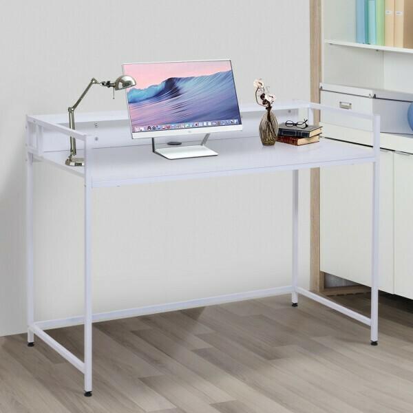 HOMCOM® Schreibtisch PC Tisch Computertisch mit Kabeldurchlass Weiss