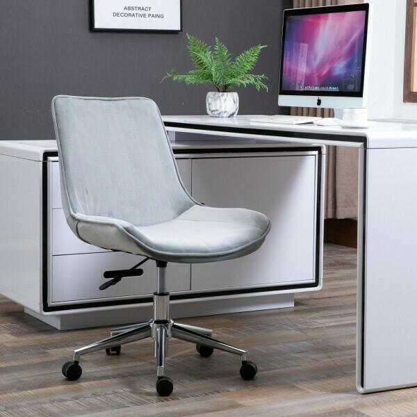 HOMCOM® Bürostuhl Drehstuhl Schreibtischstuhl Höhenverstellbar 360° drehbar Samtstoff