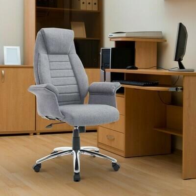 HOMCOM® Drehstuhl Chefsessel Bürostuhl höhenverstellbar Grau