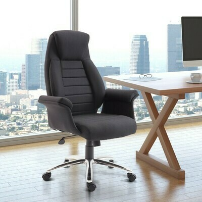 HOMCOM® Drehstuhl Chefsessel Bürostuhl Gaming Stuhl höhenverstellbar Schwarz
