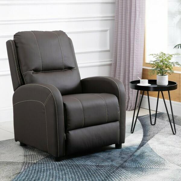 HOMCOM® Relaxsessel Fernsehsessel Wohnzimmer 165° Liegewinkel 160 kg belastbar PU Braun