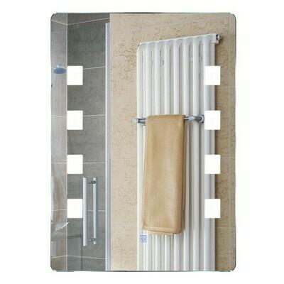 HOMCOM® Lichtspiegel LED Spiegel Badspiegel Wandspiegel 60 x 80 x 4cm