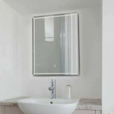 LED Badezimmerspiegel Wandspiegel Silber 50 x 3 x 70 cm