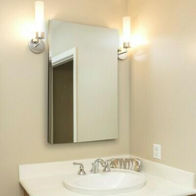 kleankin® Wandspiegel Badspiegel 60 x 80 cm Spiegel Flurspiegel Aluminiumrahmen Silber
