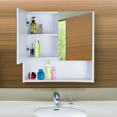 HOMCOM® Badezimmerschrank 60 x 60 x 15 cm Spiegelschrank Badschrank Hängeschrank