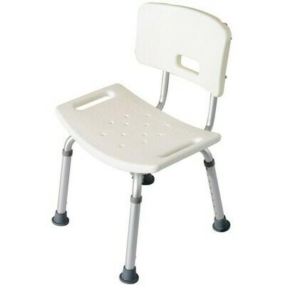 HOMCOM® Duschstuhl mit Rückenlehne Badehocker 8-fach höhenverstellbar