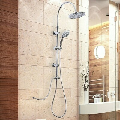 kleankin® Regendusche Duschsystem Handbrause 3 Duschmodi höhenverstellbar Silber