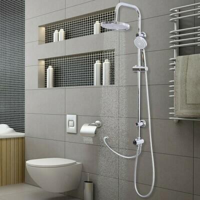 kleankin® Duscharmatur Regendusche Duschsystem Silber