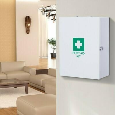 HOMCOM® Verbandsschrank Erste Hilfe Medikamentenschrank 2 Schlüsseln Weiss