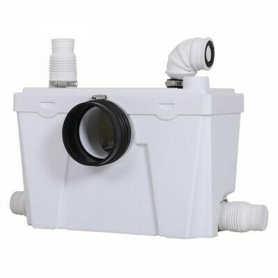 HOMCOM WC Hebeanlage und Abwasserpumpe | Kompakt | Polypropylen | 40 x 29 x 28 cm | Weiß