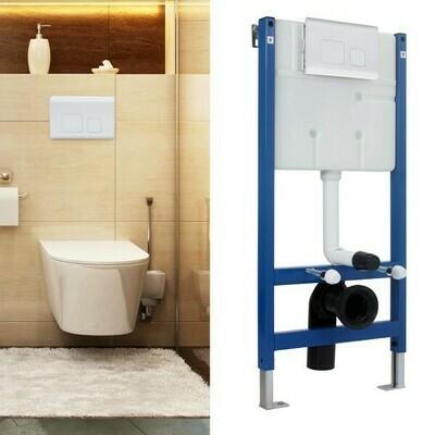 HOMCOM® WC Vorwandelement Spülkasten 102cm Weiss