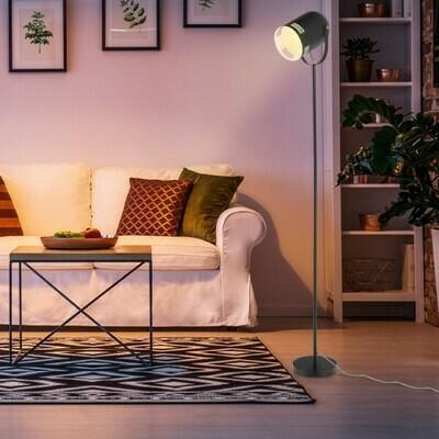 HOMCOM® Stehleuchte Stehlampe E27-Fassung neben Sofa 90° verstellbar Metall Schwarz 25,5 x 20 x 155 cm