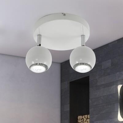 HOMCOM® Deckenlampe Deckenleuchte 2 x GU10 Weiss