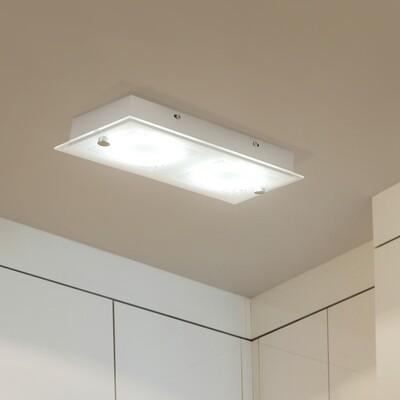 HOMCOM® LED Deckenlampe 2-flammig 12W Silber