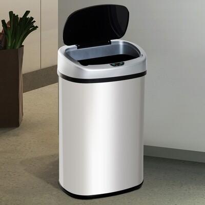 HOMCOM® Mülleimer Automatik mit Infrarotsensor 48L Silber