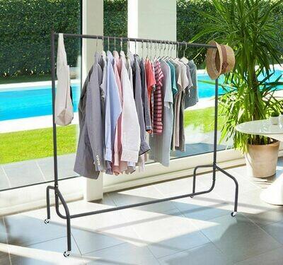 HOMCOM® Kleiderständer und Wäscheständer   Rollgarderobe   Metall   150 x 60 x 150 cm