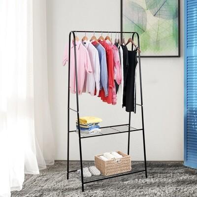 HOMCOM® Kleiderständer Garderobenständer Wäscheständer Garderobe Stahl Schwarz