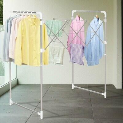 HOMCOM® Kleiderständer Wäscheständer Standtrockner zusammenklappbar ABS-Schutz Edelstahl