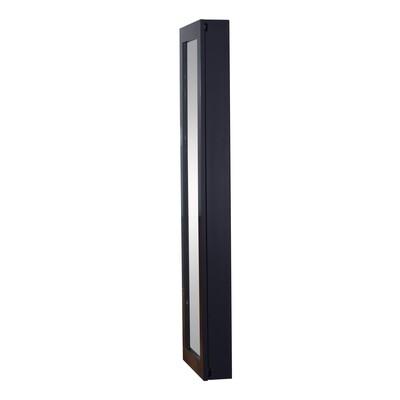 HOMCOM® Schmuckschrank Spiegelschrank schwarz