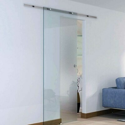 HOMCOM® Glasschiebetür 775 x 2050 mm teilsatiniert mit Balkendekor