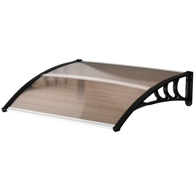 Outsunny® Vordach Haustürvordach 100 x 80 cm Pultvordach Überdachung Polycarbonat Braun