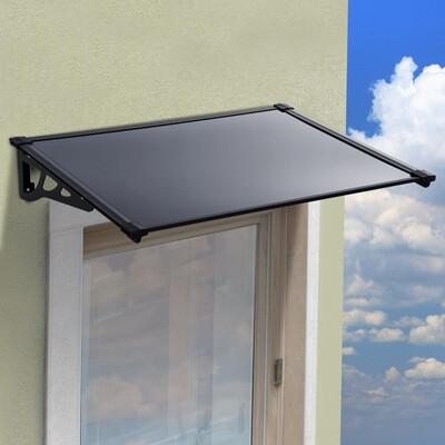 Outsunny® Vordach Überdachung Polycarbonat Alu taubengrau 120 x 90 x 22,5cm