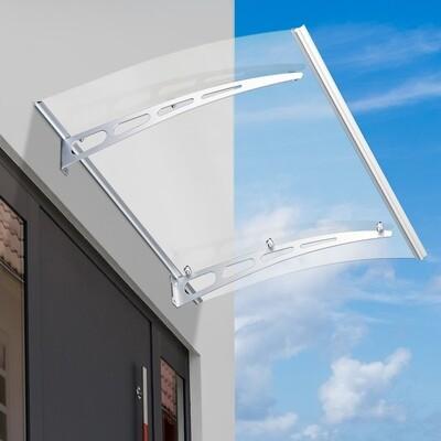Outsunny® Pultvordach Vordach Überdachung Transparent 120 x 91 x 15cm