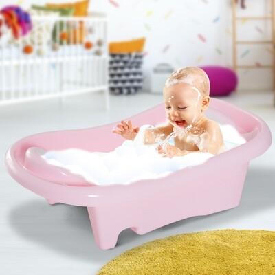 HOMCOM® Babybadewanne Badesitz 2-stufig Rosa 88x49x28cm