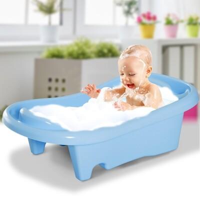 HOMCOM® Babybadewanne Badesitz 2-stufig Blau 88x49x28cm