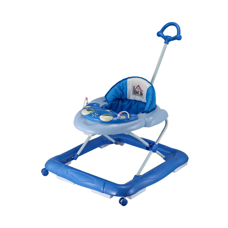 HOMCOM® Lauflernhilfe Baby Gehfrei Babywalker Klappbar Höhenverstellbar blau