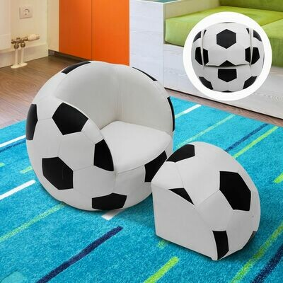 HOMCOM® Kindersofa Fussball Kindersessel Fussballsofa