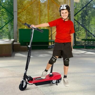 HOMCOM® Elektroroller Kinderroller Roller mit Sitz Tretroller klappbar 120W rot