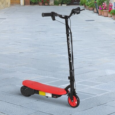 HOMCOM® E-Scooter Tretroller Kinderroller Kinder Roller Metall Rot