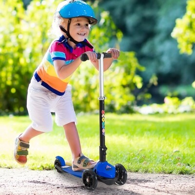 HOMCOM® Tretroller Scooter Kinderroller 3 Räder Blau