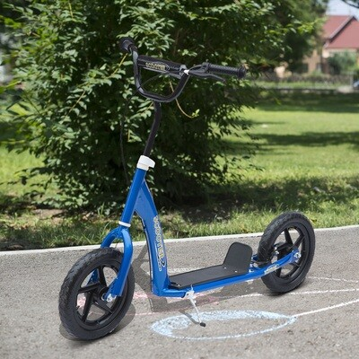 HOMCOM® Tretroller Scooter 12 Zoll Cityroller Kinder Roller Bike blau