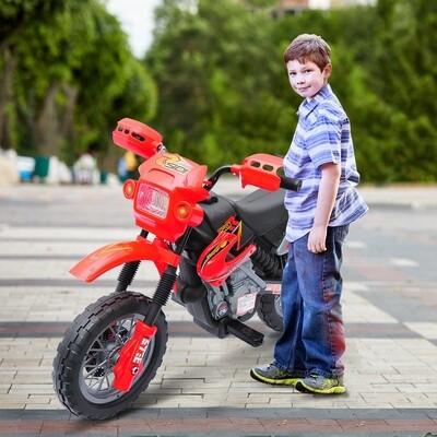 HOMCOM Elektromotorrad für Kinder | PP | 102 x 53 x 66 cm | Rot, Schwarz