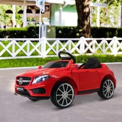 HOMCOM® Mercedes Benz AMG Elektroauto | Kinderfahrzeug | Fernbedienung | 100 x 58 x 46 cm | Rot