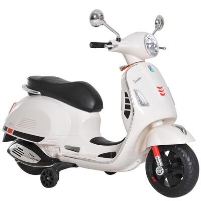 HOMCOM® Elektro Kindermotorrad VESPA Kinderauto weiss