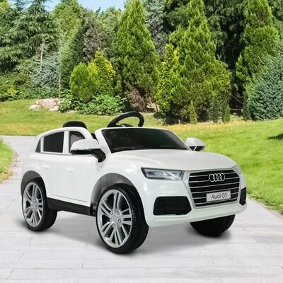 HOMCOM® Kinderauto Kinderfahrzeug Elektroauto Audi Q5 mit Fernbedienung weiss