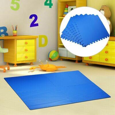 HOMCOM® 8 tlg Puzzlematte Spielmatte Bodenmatte Turnmatte EVA blau