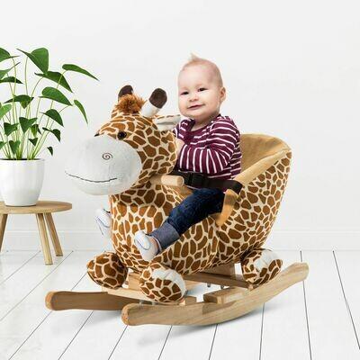 HOMCOM® Schaukeltier | Giraffe | Singend | 60 x 33 x 45 cm