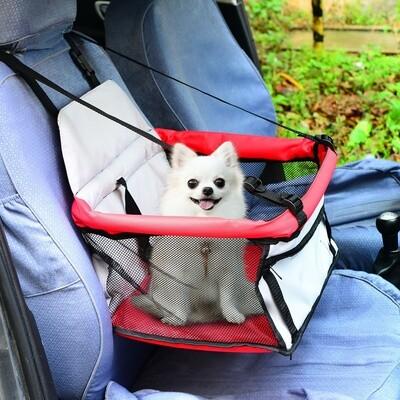 PawHut® Hundetasche Auto Hundesitz rot
