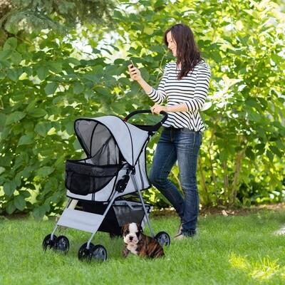 PawHut® Hundewagen Hundebuggy Hunde Pet Stroller Buggy Grau
