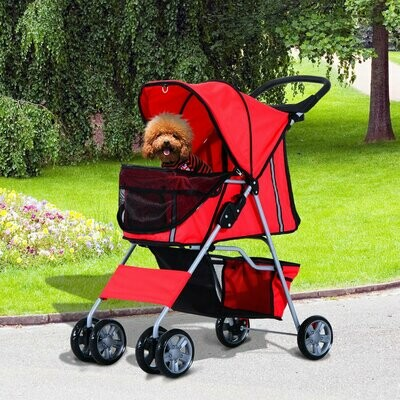 PawHut® Hundewagen Hundebuggy Hunde Pet Stroller Buggy Rot