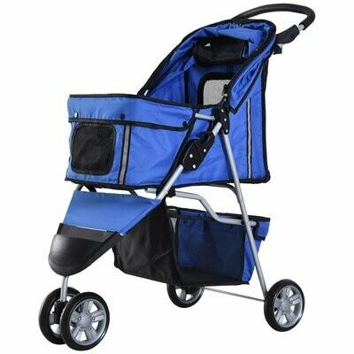 Outlet: Pawhut Hundewagen | Buggy | Jogger | 99 x 45 x 86 cm | blau