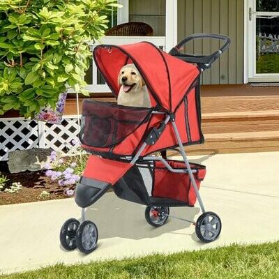 Pawhut Hundewagen   Stroller   Jogger   99 x 45 x 86 cm   rot